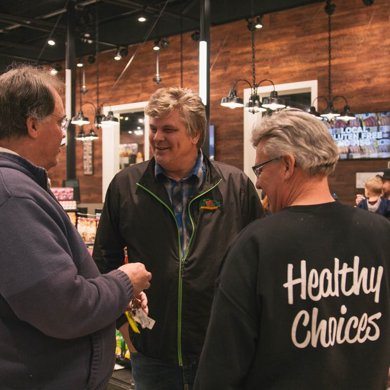 Ralph Greeting Customers  - Langley Farmer's Market